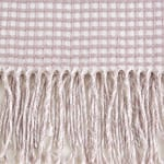 Dusty Lilac & White Waffle Knit Throw - 7