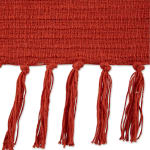 Vintage Red Solid Ribbed Throw - 3