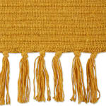Honey Gold Solid Ribbed Throw - 3
