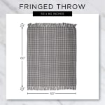 Honey Gold Solid Ribbed Throw - 4