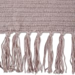 Dusty Lilac Solid Ribbed Throw - 3
