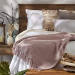 Dusty Lilac Solid Ribbed Throw - 6