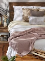 Dusty Lilac Solid Ribbed Throw - 7
