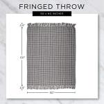 Multi Diamond Gray Tone Throw - 9