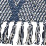 Multi Diamond Denim Blue Tone Throw - 3