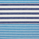 Deep Blue Stripes With Fringe Set of 6 Placemat - 7
