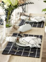 Black Check Set of 6 Placemats - 4