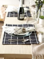 Black Check Set of 6 Placemats - 7