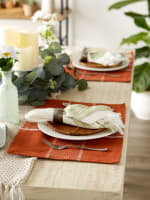 Fiesta Rust Check Set of 6 Placemats - 4