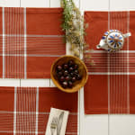Fiesta Rust Check Set of 6 Placemats - 8