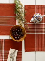 Fiesta Rust Check Set of 6 Placemats - 9