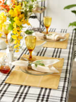 Fiesta Curry Check Set of 6 Placemats - 3
