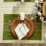 Fiesta Green Check Set of 6 Placemats - 1