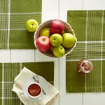Fiesta Green Check Set of 6 Placemats - 7
