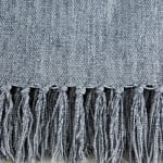Soft Denim Blue Chenille Throw - 4