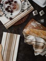 Chef Stripe Stone Set of 3 Dishtowels - 4
