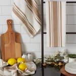 Chef Stripe Stone Set of 3 Dishtowels - 7