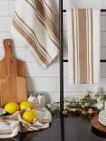 Chef Stripe Stone Set of 3 Dishtowels - 9