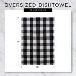 Chef Stripe Gray Blue Set of 3 Dishtowels - 7
