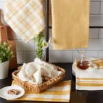 Asst Honey Gold Everyday Set of 5 Dishtowels - 8