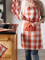 Vintage Red Buffalo Check Chef Apron - 4