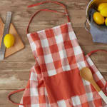 Vintage Red Buffalo Check Chef Apron - 5