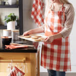 Vintage Red Buffalo Check Chef Apron - 6
