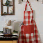 Vintage Red Buffalo Check Chef Apron - 7