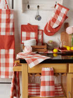 Vintage Red Buffalo Check Chef Apron - 8