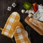 Buffalo Check Honey Gold Oven Mitt Set of 2 - 4