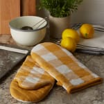 Buffalo Check Honey Gold Oven Mitt Set of 2 - 6
