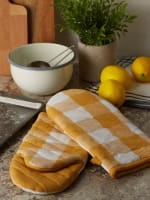 Buffalo Check Honey Gold Oven Mitt Set of 2 - 7