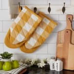 Buffalo Check Honey Gold Oven Mitt Set of 2 - 8