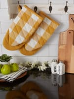 Buffalo Check Honey Gold Oven Mitt Set of 2 - 9