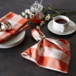 Buffalo Check Vintage Red Napkin Set of 6 - 4