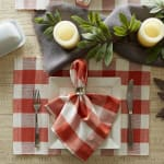 Buffalo Check Vintage Red Ribbed Set of 6 Placemats - 4