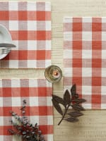 Buffalo Check Vintage Red Ribbed Set of 6 Placemats - 7