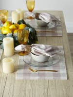 Buffalo Check Dusty Lilac Ribbed Set of 6 Placemats - 2
