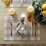 Buffalo Check Dusty Lilac Ribbed Set of 6 Placemats - 6