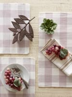 Buffalo Check Dusty Lilac Ribbed Set of 6 Placemats - 8