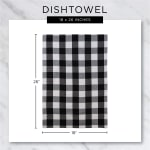 Gray Recycled Cotton Waffle Set of 6 Dishtowels - 5