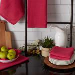 Pink Recycled Cotton Waffle Set of 6 Dishtowels - 6
