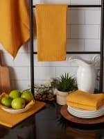 Honey Gold Recycled Cotton Waffle Set of 6 Dishtowels - 8