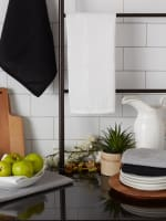 Asst Neutrals Recycled Cotton Waffle Set of 6 Dishtowels - 9