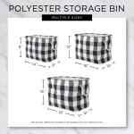 Dark Brown Paw Bone Polyester Rectangle Medium Pet Storage Bin - 6