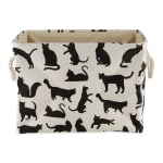 Cats Meow Polyester Rectangle Small Pet Storage Bin - 3