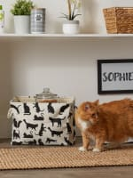 Cats Meow Polyester Rectangle Small Pet Storage Bin - 7