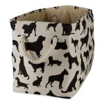 Dog Show Polyester Rectangle Small Pet Storage Bin - 1