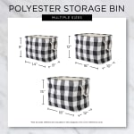 Dog Show Polyester Rectangle Small Pet Storage Bin - 6