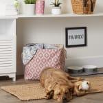 Rose Lattice Paw Polyester Rectangle Large Pet Storage Bin - 3
